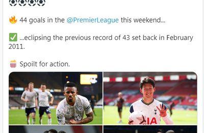 رقم قياسي من الأهداف في تاريخ الدوري الإنجليزي الممتاز سجل في الجولة الثانية