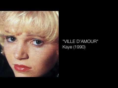 """Kaye, une chanteuse belge des années 1980 et 1990 avec des titres comme """"ville d'amour"""" et """"ne me laisse pas toute seule cette nuit"""""""
