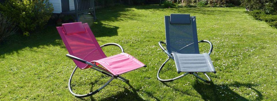 Mon transat relax bascule design, déco jardin