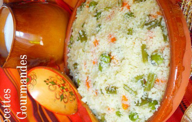 Couscous aux dès de légumes : Plat Traditionnel