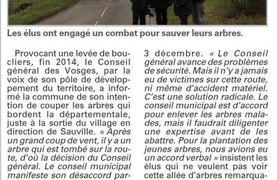 Robécourt : Non à l'abattage des tilleuls (Vosges Matin)