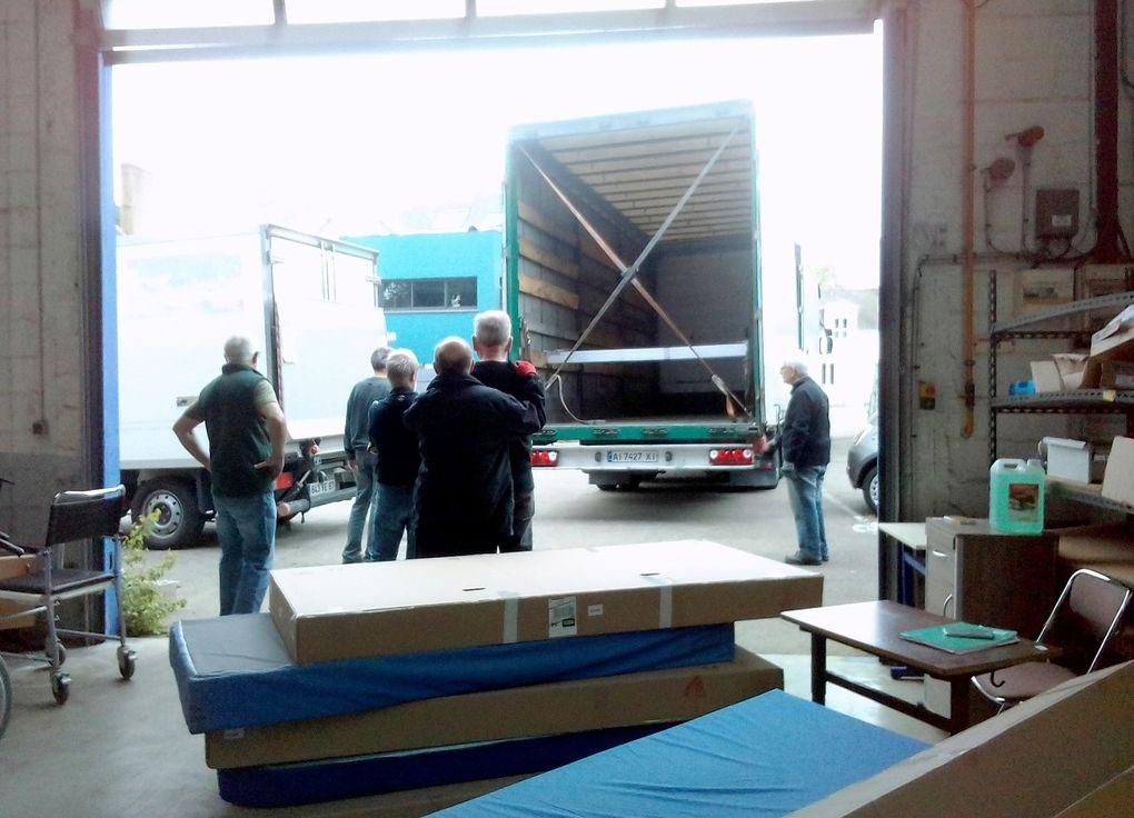 Du matériel pour hôpital central de Zmiev, en Ukraine
