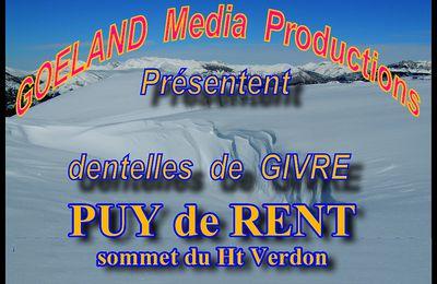 ASCENSION en raquettes du PUY de RENT - Haut Verdon - Colle St Michel ( 04 )