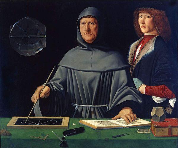 Dans ce portrait, par Jacopo de' Barbari, de Luca Pacioli, auteur de De divina proportione, un dodécaèdre régulier est exposé en bas à droite