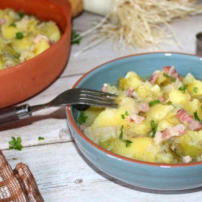 Ragoût de pommes de terre aux poireaux