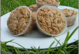 Muffins à la pistache et au nutella