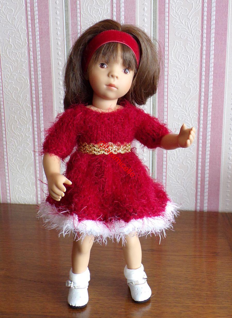 tuto gratuit  poupée  : robe toute douce pour NOËL