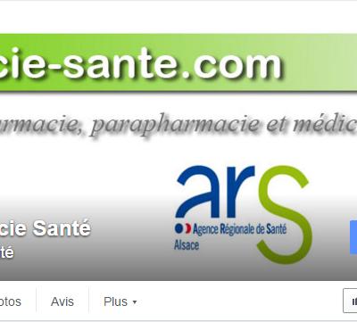 Ouverture de la page Facebook Pharmacie Santé