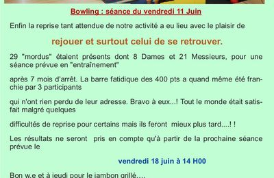 Reprise bowling....