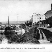 MANTES-LA-JOLIE. - Le Quai de la Tour et la Cathédrale.