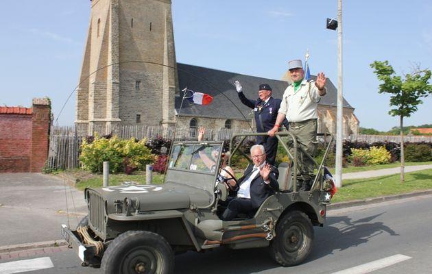 FAIRE REVIVRE L'HISTOIRE...DE LA LIBÉRATION...DEVANT LE CIMETIÈRE DE BERCK SUR MER...N° 1