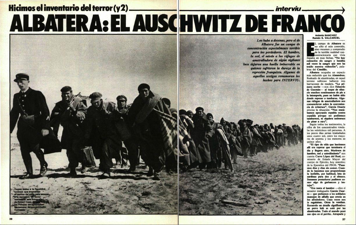 Espagne Franco franquisme camp Albatera Anarchisme