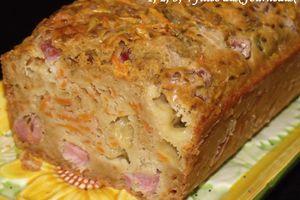 Cake carottes / jambon / cumin