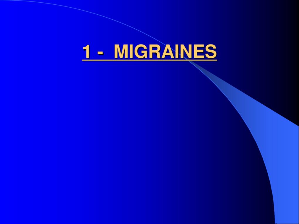 Céphalées et Migraines