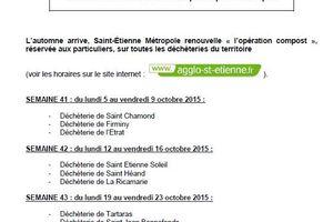 Déchèteries de Saint-Étienne Métropole : opération compost automne 2015