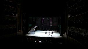 Set of Clemence of Titus by W.A. Mozart in Teatro San Carlos in Lisbon. The action was situat in 1925.
