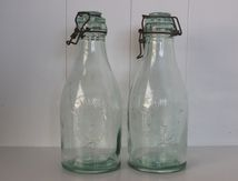 Bouteille la Lorraine 1,5 L avec bouchoun verre Vintage