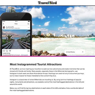 Most Instagrammed Tourist Attractions