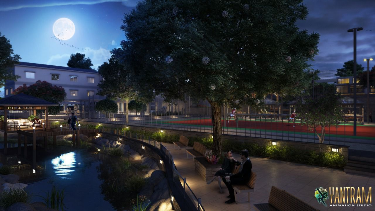 The Next Big Thing in town ship Architectural & landscaping design by Yantram studio, Doha - Qatar