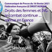 Communiqué du 16 février 2021 - Droits des femmes et IVG : le combat continue...même en France