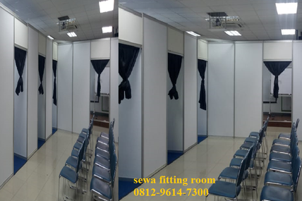 Jual Sewa Fitting Room, Fitting Room Pameran, Jual Sewa Partisi R8