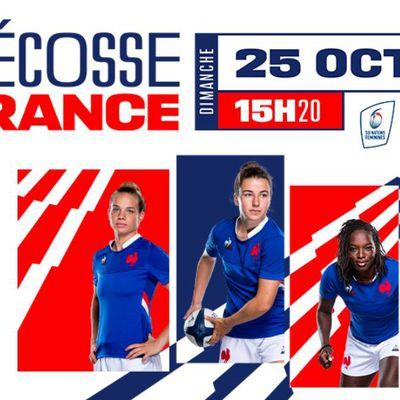 Ecosse / France (Tournoi 6 Nations Féminin) en direct dimanche sur France 2 !