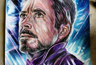 Avengers endgame , portrait de robert downey jr