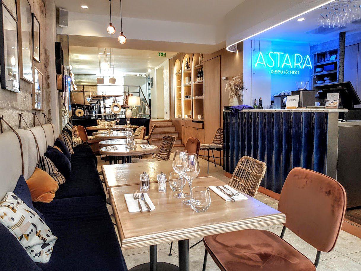 La salle d'Astara restaurant Paris 1er