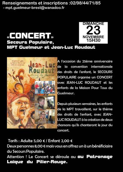 Concert Secours Populaire/ MPT du Guelmeur