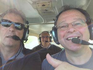 Les trois mousquetaires en vol au retour de Nangis LFAI