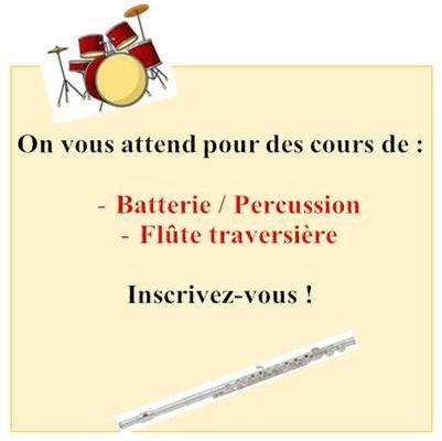 Flûte à bec et traversière, batterie, percussions , mandoline: il reste des places