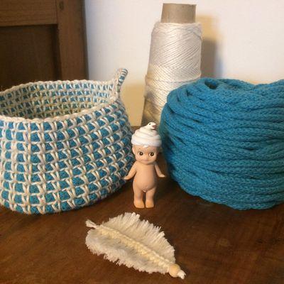 Corbeille en cotton air et lin de Casasol