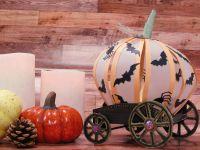 Carrosse - Citrouille - Halloween - Fait Main - Fait Maison - Dies - Machine de découpe - Happy Cut - Roues - Photophore - Centre de Table - DIY