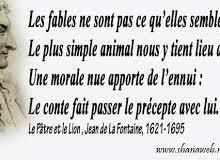 Jean de La Fontaine, 25 citations du génie français de la Fable  plus une pensée poétique et une vidéo sur sa vie et son oeuvre