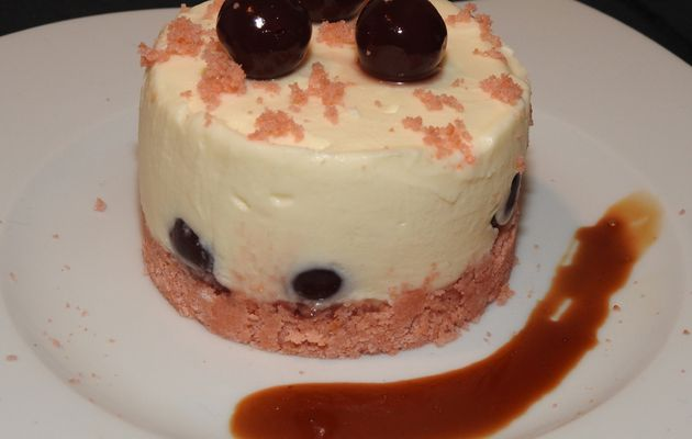 Cheesecake Griottines pour Octobre Rose