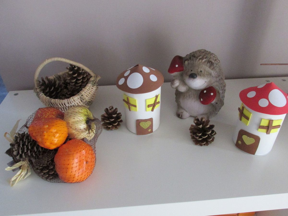 .. Déco automne . Maison champignon ..