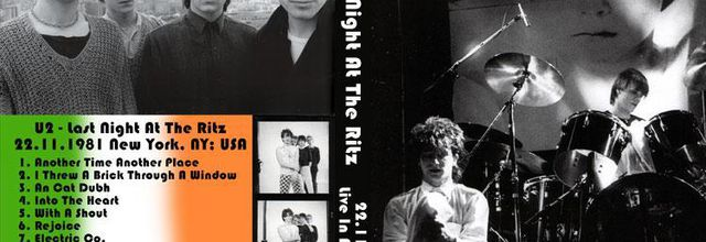 U2 -October Tour 22/11/1981 -New-York  USA - The Ritz #3