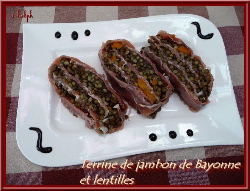 Terrine de jambon de Bayonne et lentilles