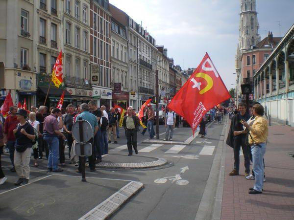 Photos de la conférence de presse et de la manifestation du 22 mai 2008 contre les 41 annuités.