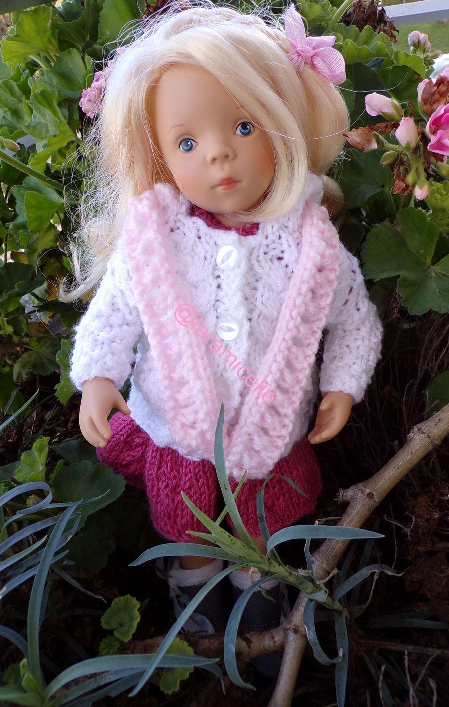 tuto gratuit poupée  : longue écharpe ajourée pour tricoteuses débutantes