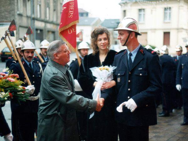Sainte-Barbe des Sapeurs-Pompiers à Algrange en 1997