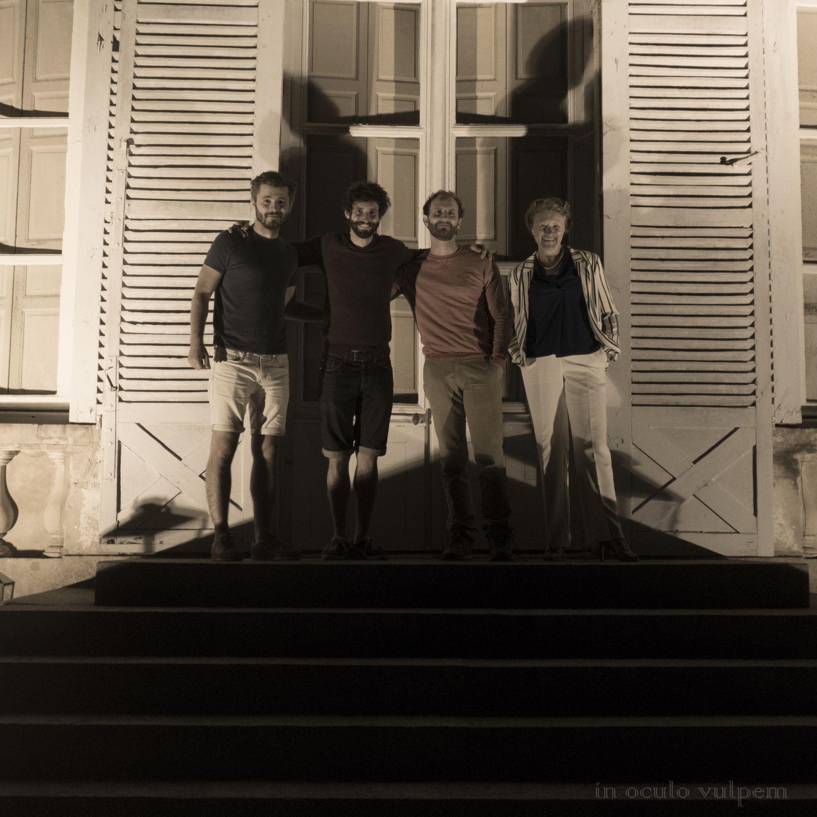 Trio SR9. Marimbas : Alexandre Esperet, Nicolas Cousin, Paul Changarnier. Château de Canon, 21/07/2020.