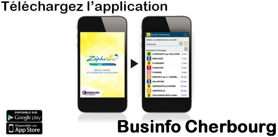 #Cherbourgencotentin : Nouvelle application chez Zephir Bus #BUSINFO !