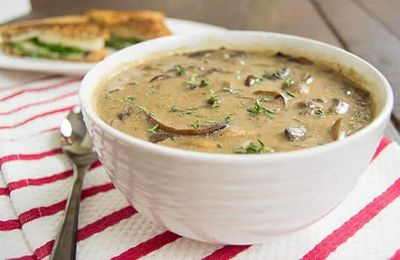 Bisque aux champignons crémeux weight watchers cookeo
