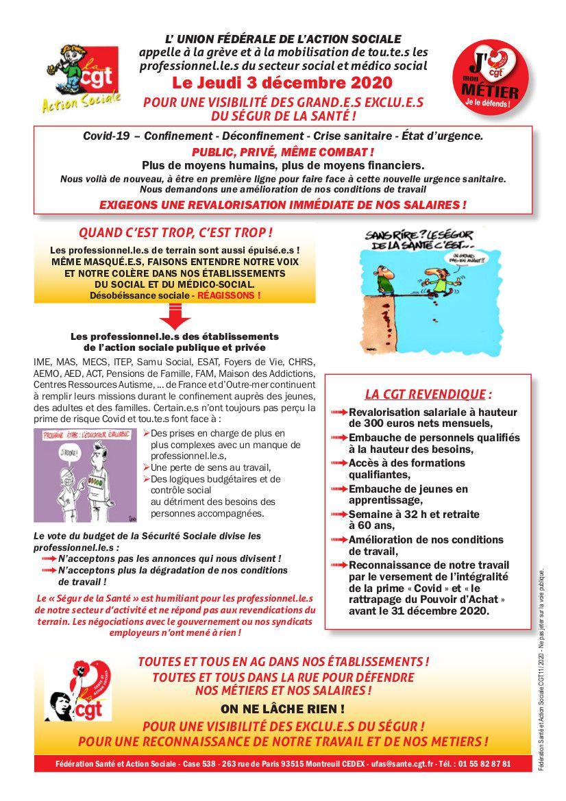3 décembre... réservez votre date !! mobilisation du social et médico-social ... Faîtes du bruit !!