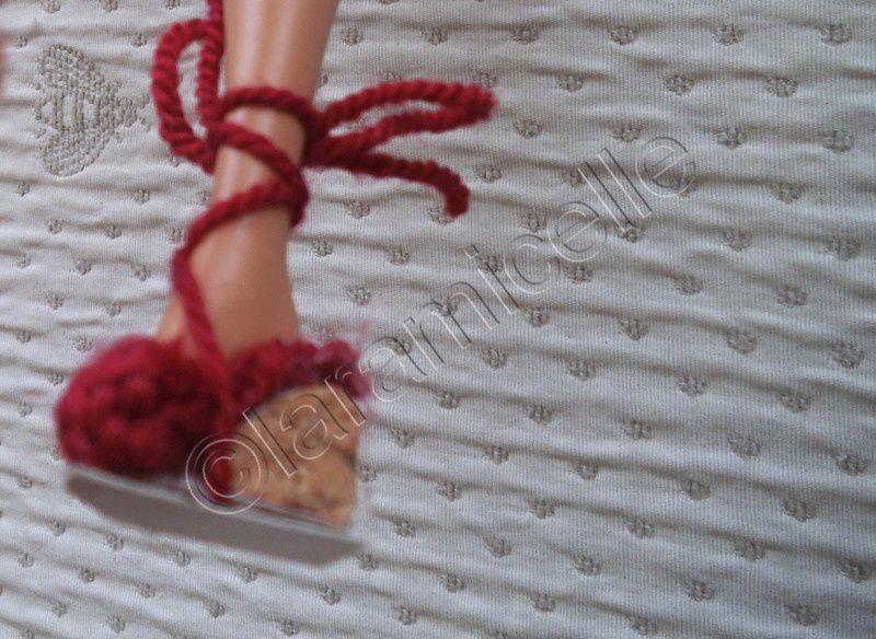 tuto gratuit barbie: chaussures d'été à talons compensés