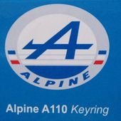 PORTE CLES ALPINE RENAULT A110 UNIVERSAL HOBBIES - PC A110 - car-collector.net