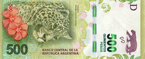 Nouveau billet de 500 pesos argentins