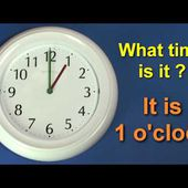 Learn to tell the time - What time is it ? English Teaching Video