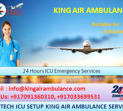 King Air Ambulance 24 hrs Availability in Delhi